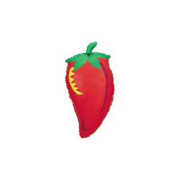 Fiesta Chili Pepper Metallic Balloon - 32 Inch