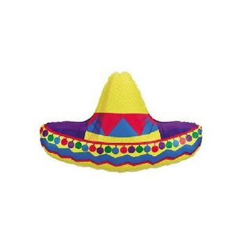 Sombrero Metallic Balloon - 34 Inch
