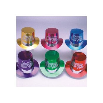 New Years Party    Metallic Color Top Hats