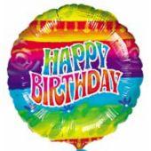 Flashback Birthday Balloons - 18 Inch, 10 Pack