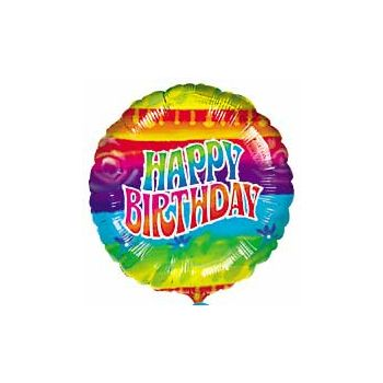 Flashback Birthday Balloons - 18 Inch, 10 Pack