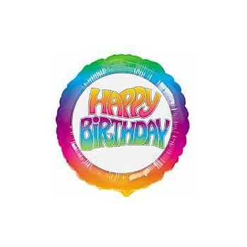 Tie Dye Birthday Balloons - 18 Inch, 10 Pack