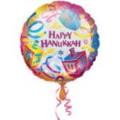 Happy Hanukkah Metallic Balloon - 18 Inch