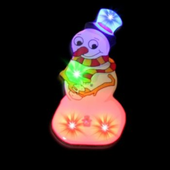 Flashing Snowman LED Blinkies - 12 Pack