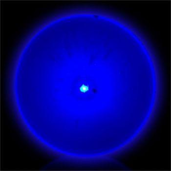 Flashing Blue Circle LED Blinkies - 12 Pack