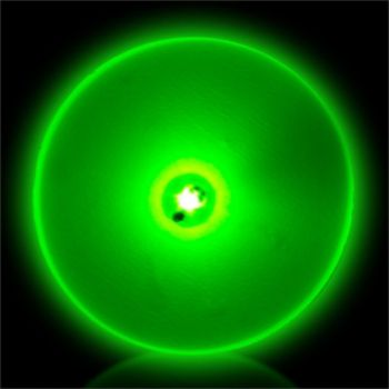 Flashing Green Circle LED Blinkies - 12 Pack