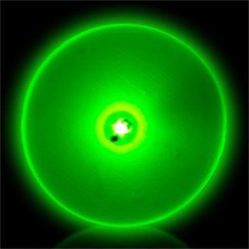 Flashing Green Circle LED Blinkies - 12 Pack