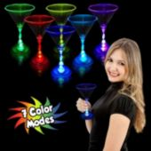Multi-Color LED 7 Oz Martini Glass