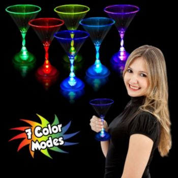 Multi-Color LED Martini Glass - 7 Oz.