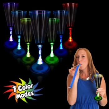Multi-Color LED Champagne Glass - 7.5 Oz.