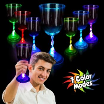 Multi-Color LED Wine Glass - 10 Oz.