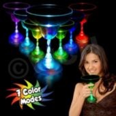 "Multi-Color LED 10 1/2"" Oz Margarita Glass"