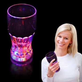 Flashing Multi-Color LED Drink Glass - 12 Ounce