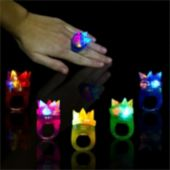 Spike Shaped LED Jelly Rings - 24 Pack