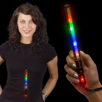 Multi-Color LED Patrol Wand - 9 Inch, 12 Pack