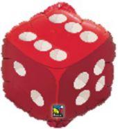 Red Dice18' Metallic Balloon