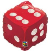 Red Dice18' Metallic Balloon
