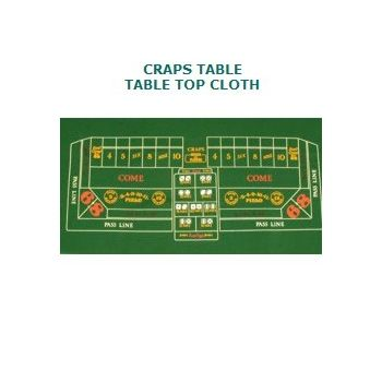 CRAPS TABLE   TABLE TOP CLOTH