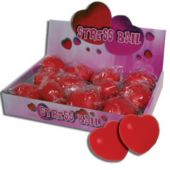 Heart Shaped Stress Balls-12 Pack