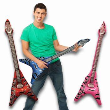 V Shape Inflatable Guitars - 40 Inch, 12 Pack