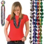 Multi-Color Faceted Bead Necklaces - 33 Inch, 12 Pack