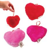 Assorted Plush Heart Toys