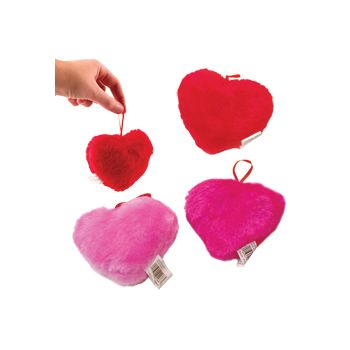 "4""  ASSORTED  PLUSH  HEARTS"