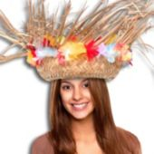 Beachcomber Hat With Silk Flowers