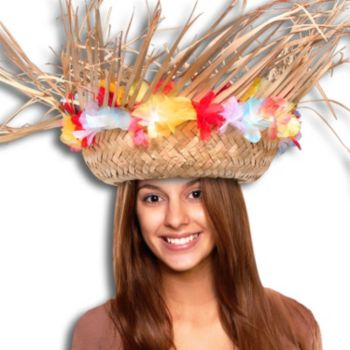 Beachcomber Hat with Silk Flowers