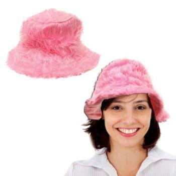 Hot Pink Plush Shag Hat