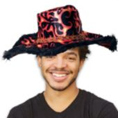 Flame Velvet Show Daddy Hat
