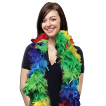 RAINBOW FEATHER   6' BOA
