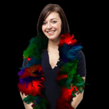 Rainbow Feather Boa - 6 Foot