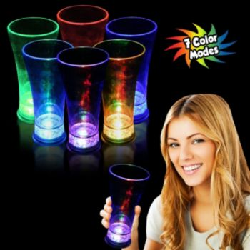 Multi-Color LED Pilsner Glass - 14 Ounce