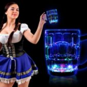 Flashing Multi-Color LED Beer Mug - 16 Ounce