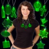 Green LED Pendant Necklaces