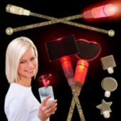 Red LED Cocktail Stirrers - 9 Inch
