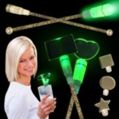 Green LED Cocktail Stirrers - 9 Inch