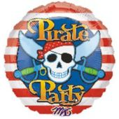 Pirate Party Metallic Balloon - 18 Inch
