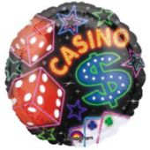 Casino Metallic Balloon - 18 Inch