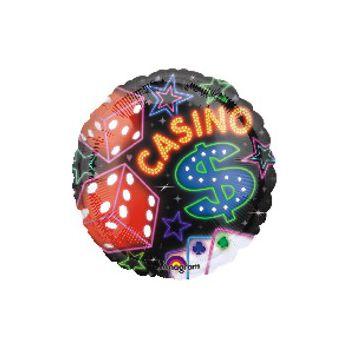 Casino Metallic Balloon - 18 Inch