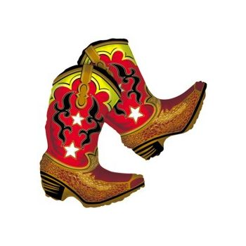Dancing Cowboy Boots Balloon - 36 Inch