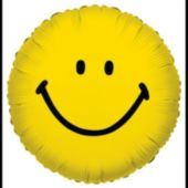 Smiley Face Metallic Balloon - 18 Inch