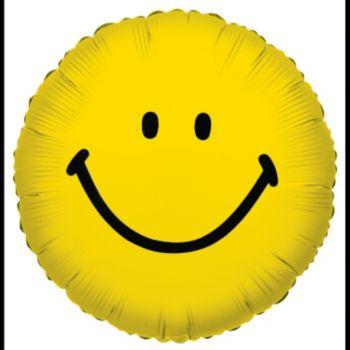 Smiley Face Metallic Balloon - 18 Inch