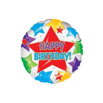 Happy Birthday Star Birthday Balloon - 18 Inch