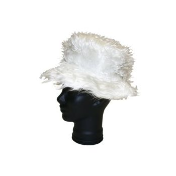 WHITE SHAG  HAT