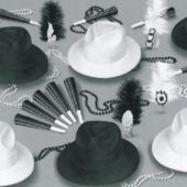 Black And White Party Kit For 50 People