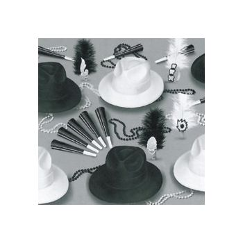 Black and White   Party Kit for 50