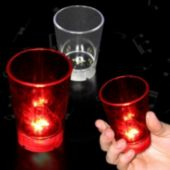 Flashing Red (Dice-On-Bottom) LED Shot Glass - 2 Ounce
