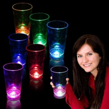 Flashing Multi-Color LED Pint Glass - 16 Ounce